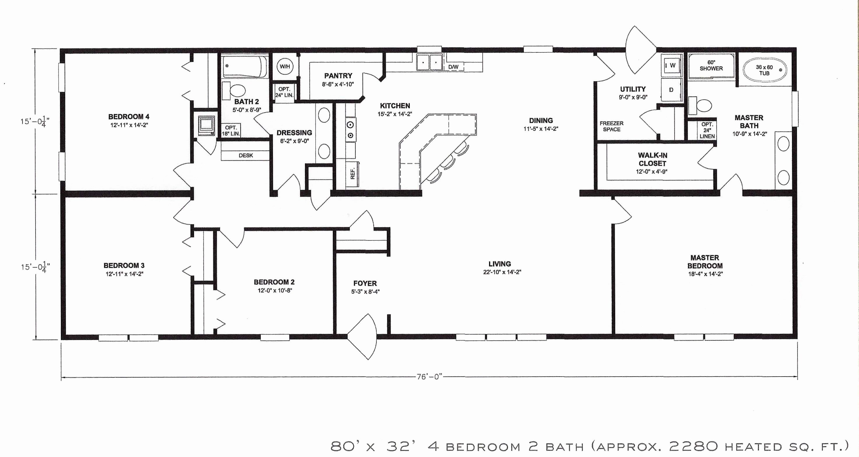 Best Single Story Four Bedroom House Plans With Pictures ...
