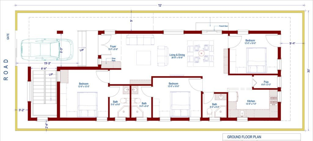 Best 3 Bedroom House Design With Rental Portions – Houzone With Pictures