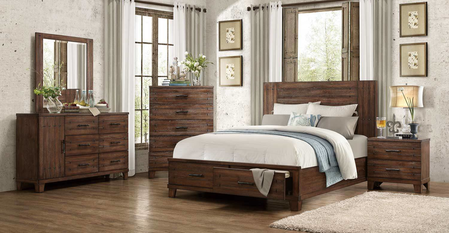 Best Homelegance Brazoria Bedroom Set Distressed Natural Wood 1877 Bedroom Set At Homelement Com With Pictures