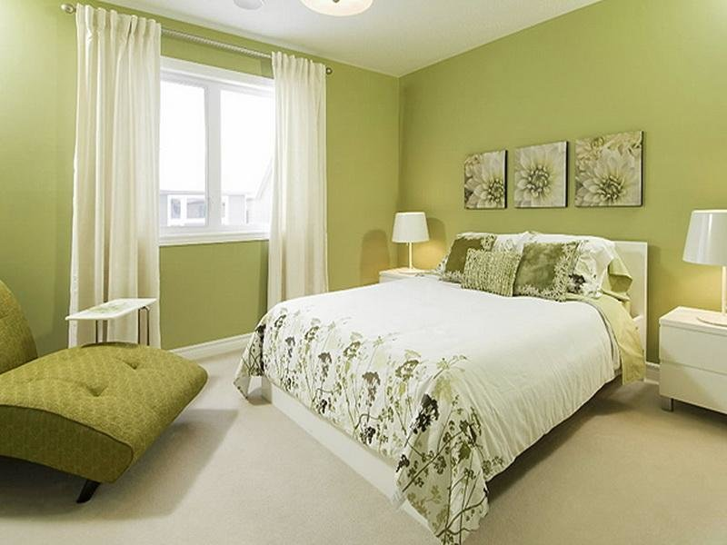 Best How To Decorate Bedroom With Green Colour Interior With Pictures