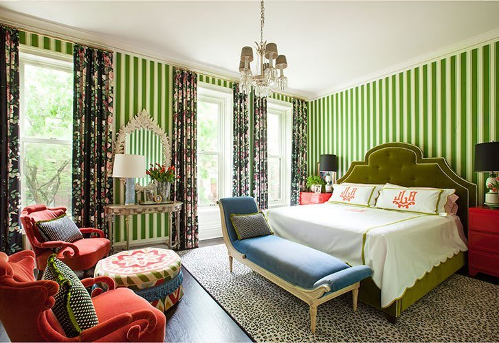 Best Green And Red Bedroom By Summer Thornton Design With Pictures