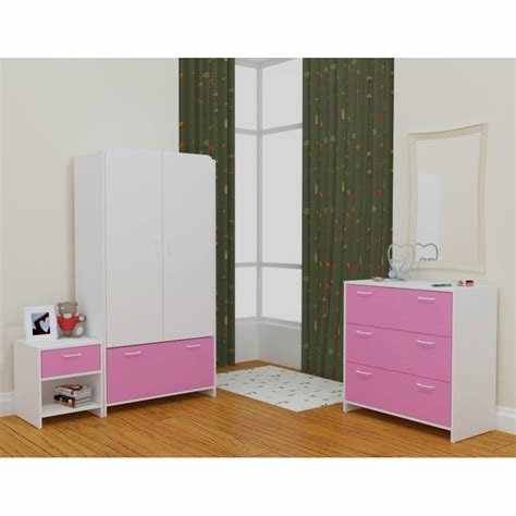 Best Lollipop White Pink Bedroom Set With Pictures