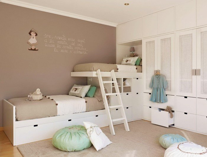 Best Beige And Mint Green Kids' Bedroom For Two Kidsomania With Pictures