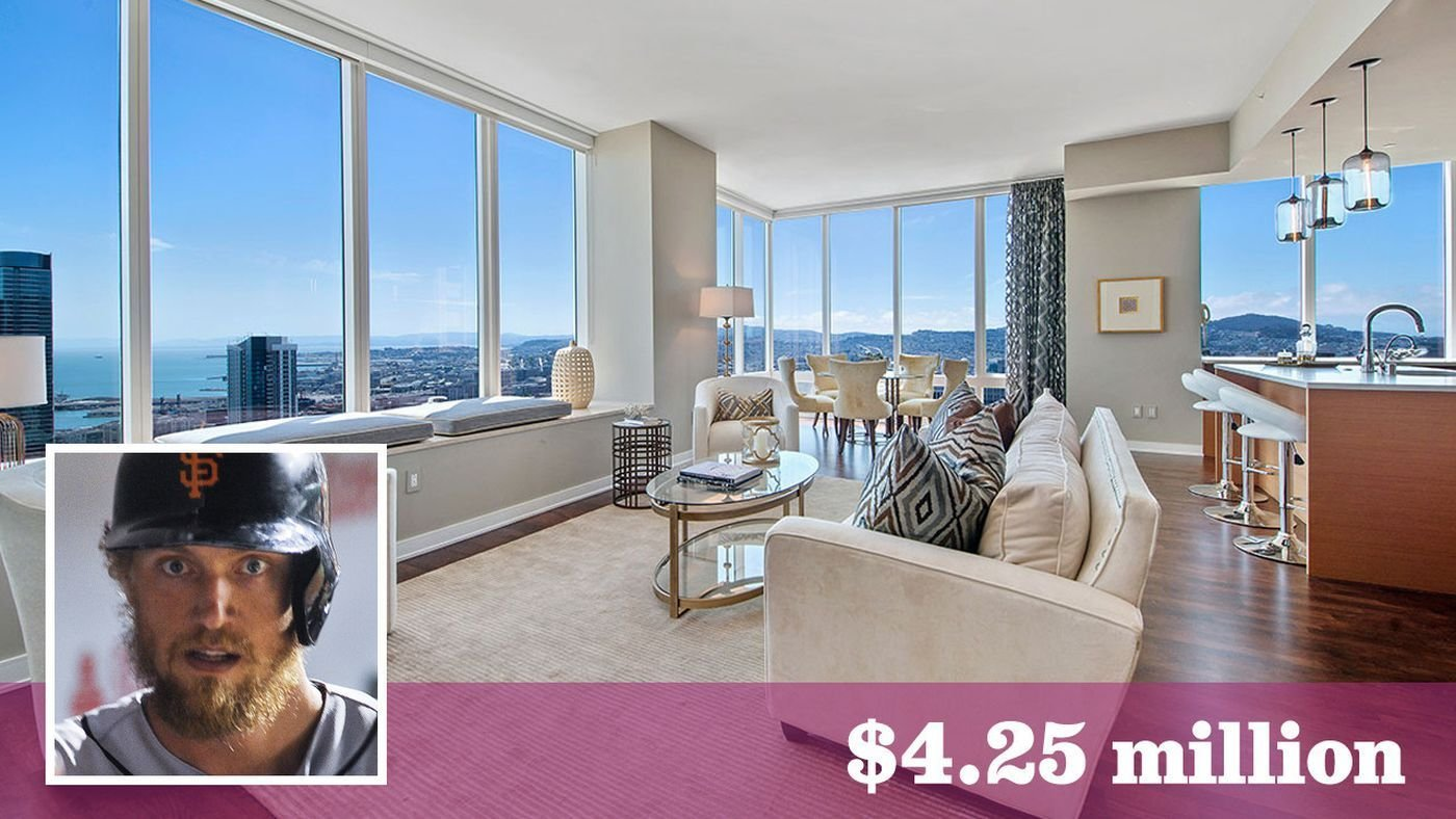 Best Giants Hunter Pence Trades Up At The Millennium Tower In With Pictures