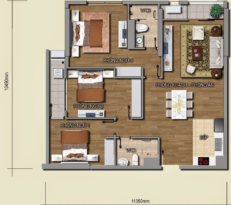 Best Cheap And Modern 2Bath 3 Bedroom Apartment For Rent In Vinhomes Nguyen Chi Thanh With Pictures