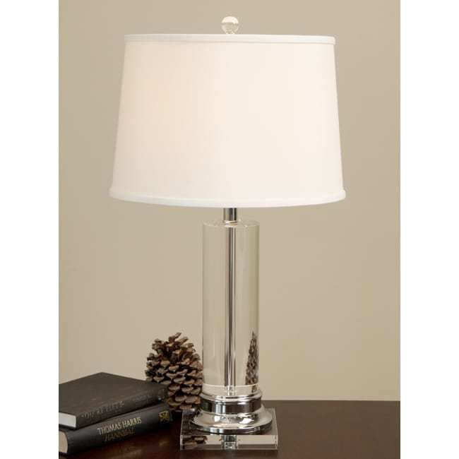 Best Crystal Column Chrome Finished Table Lamp Lighting Desk Office Modern Furniture Ebay With Pictures
