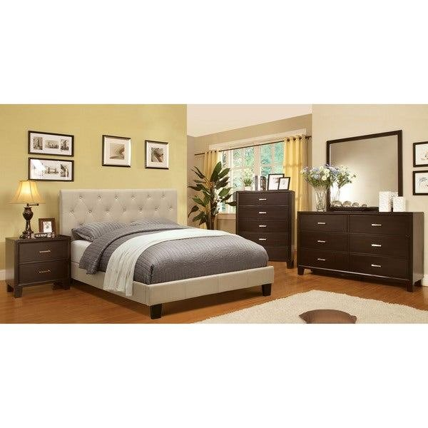 Best Furniture Of America Perdella 4 Piece Ivory Low Profile With Pictures
