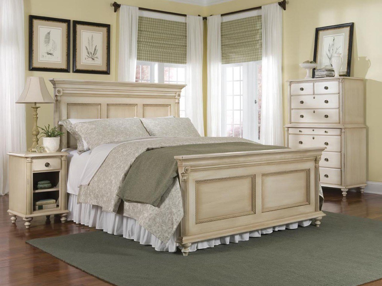 Best Durham Furniture Savile Row 4 Piece Panel Bedroom Set In With Pictures
