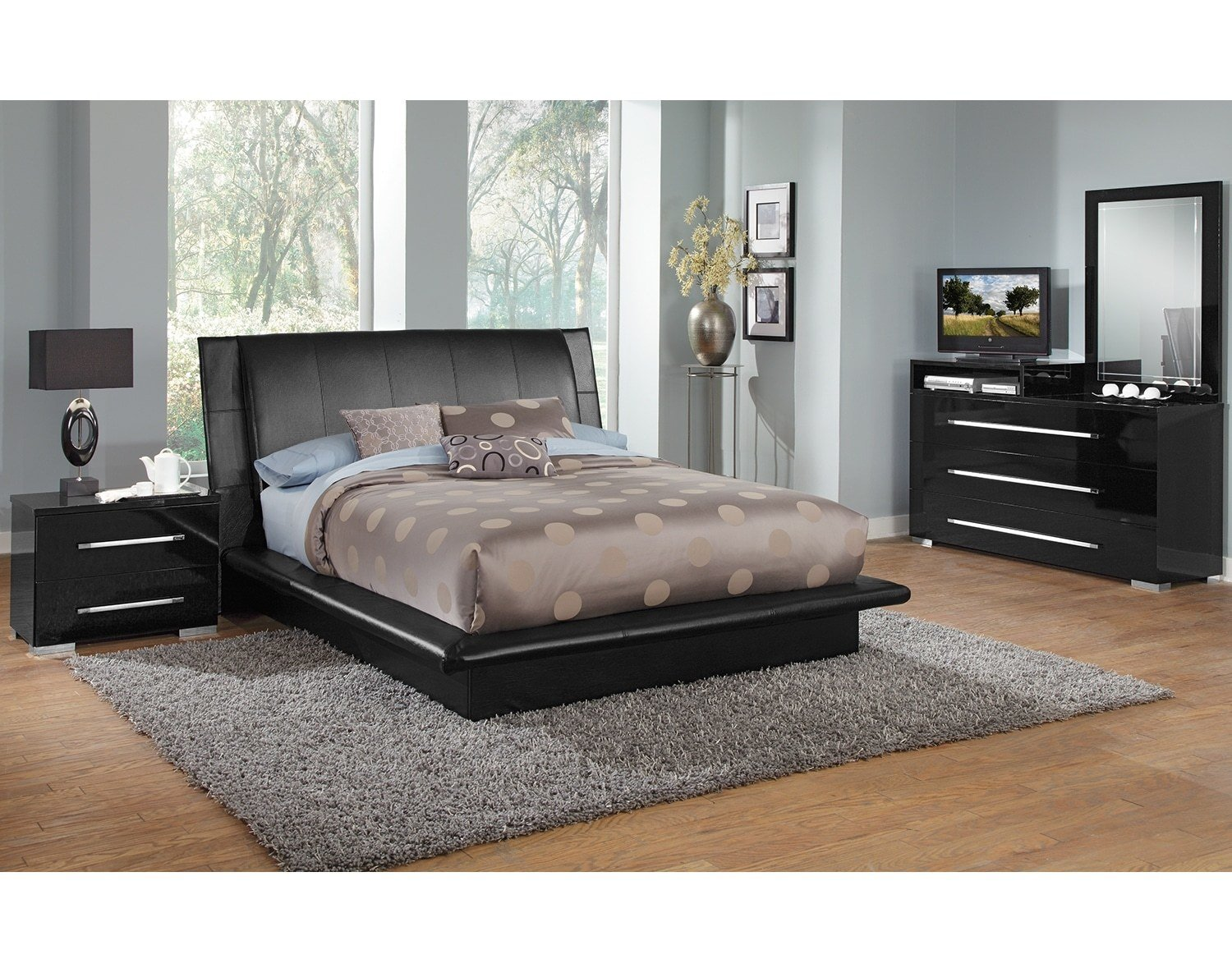 Best The Dimora Upholstered Collection Black Value City With Pictures