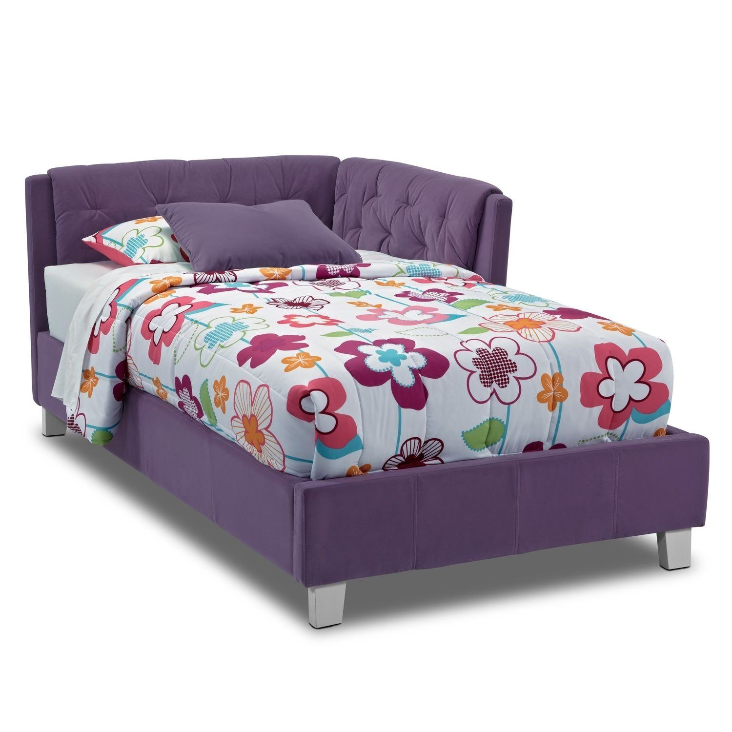 Best Jordan Twin Corner Bed Purple Value City Furniture With Pictures