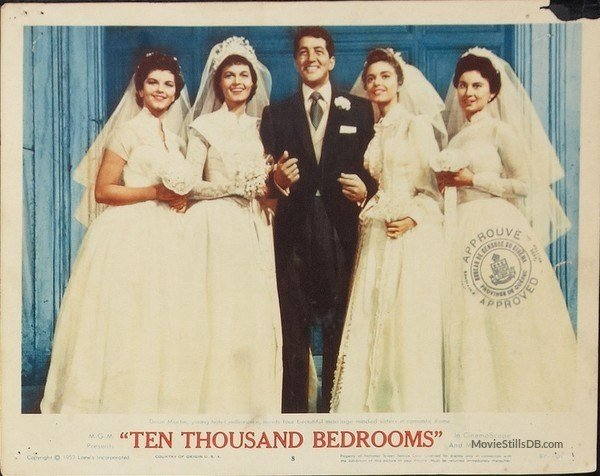 Best Ten Thousand Bedrooms Lobby Card With Dean Martin Eva Bartok With Pictures