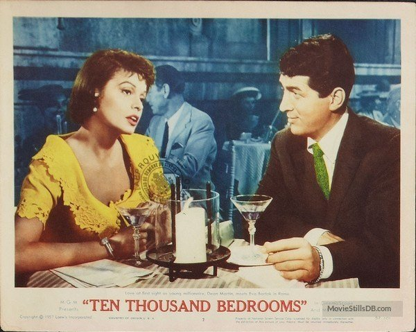 Best Ten Thousand Bedrooms Lobby Card With Dean Martin Evelyn Varden With Pictures