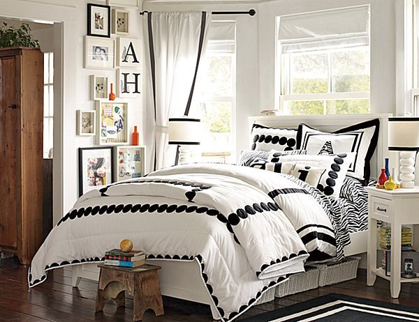 Best Black And White T**N Girls Bedroom Decoist With Pictures
