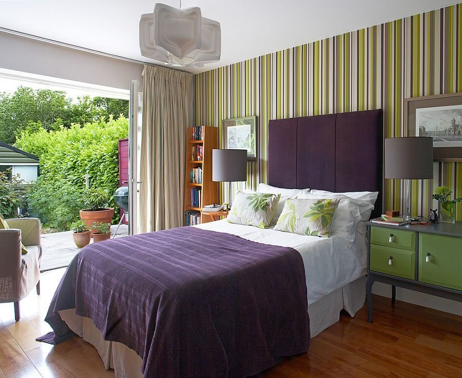 Best 20 Trendy Bedrooms With Striped Accent Walls With Pictures