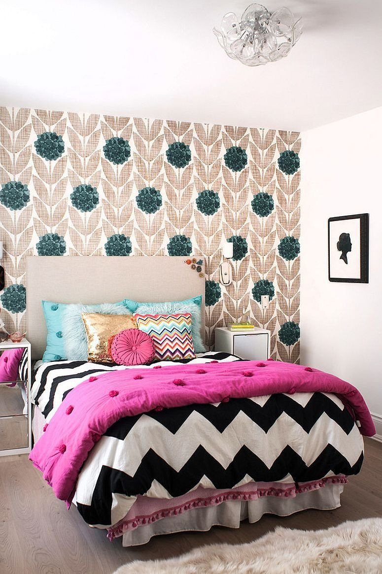 Best 25 Kids' Bedrooms Showcasing Stylish Chevron Pattern With Pictures