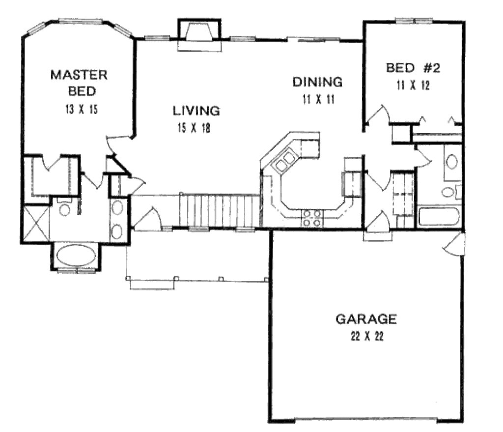Best Traditional Style House Plan 2 Beds 2 Baths 1179 Sq Ft With Pictures