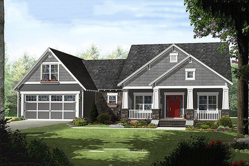 Best Craftsman Style House Plan 4 Beds 2 5 Baths 2199 Sq Ft With Pictures