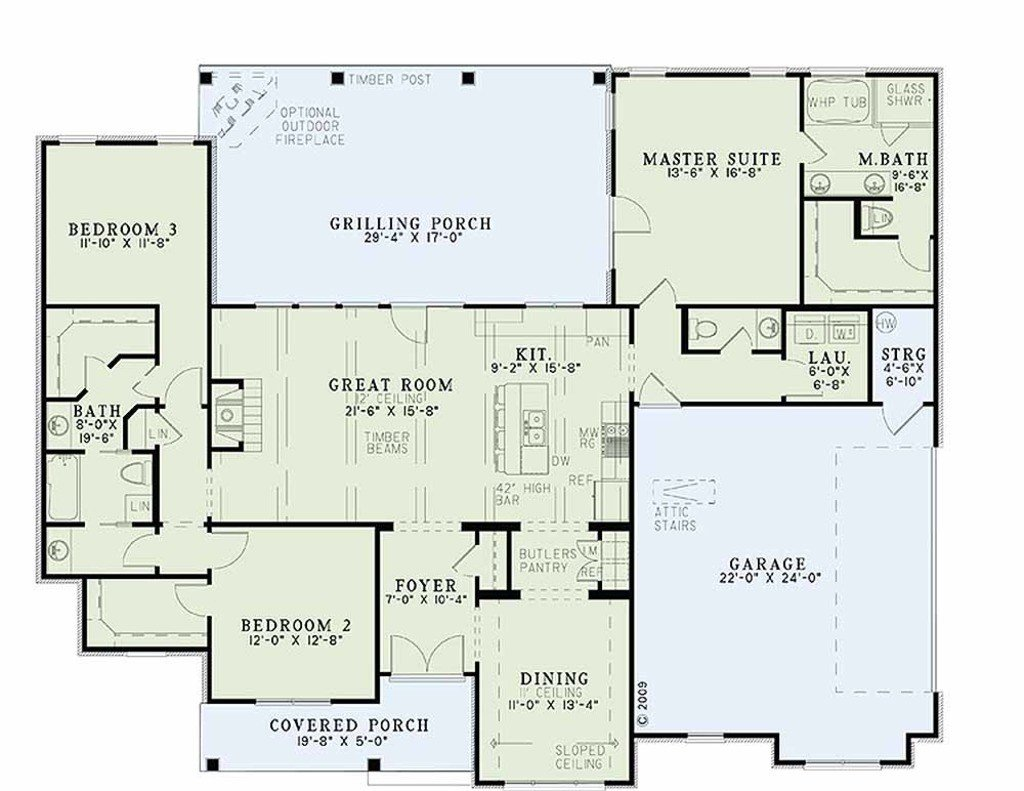 Best Traditional Style House Plan 3 Beds 2 5 Baths 1960 Sq Ft With Pictures