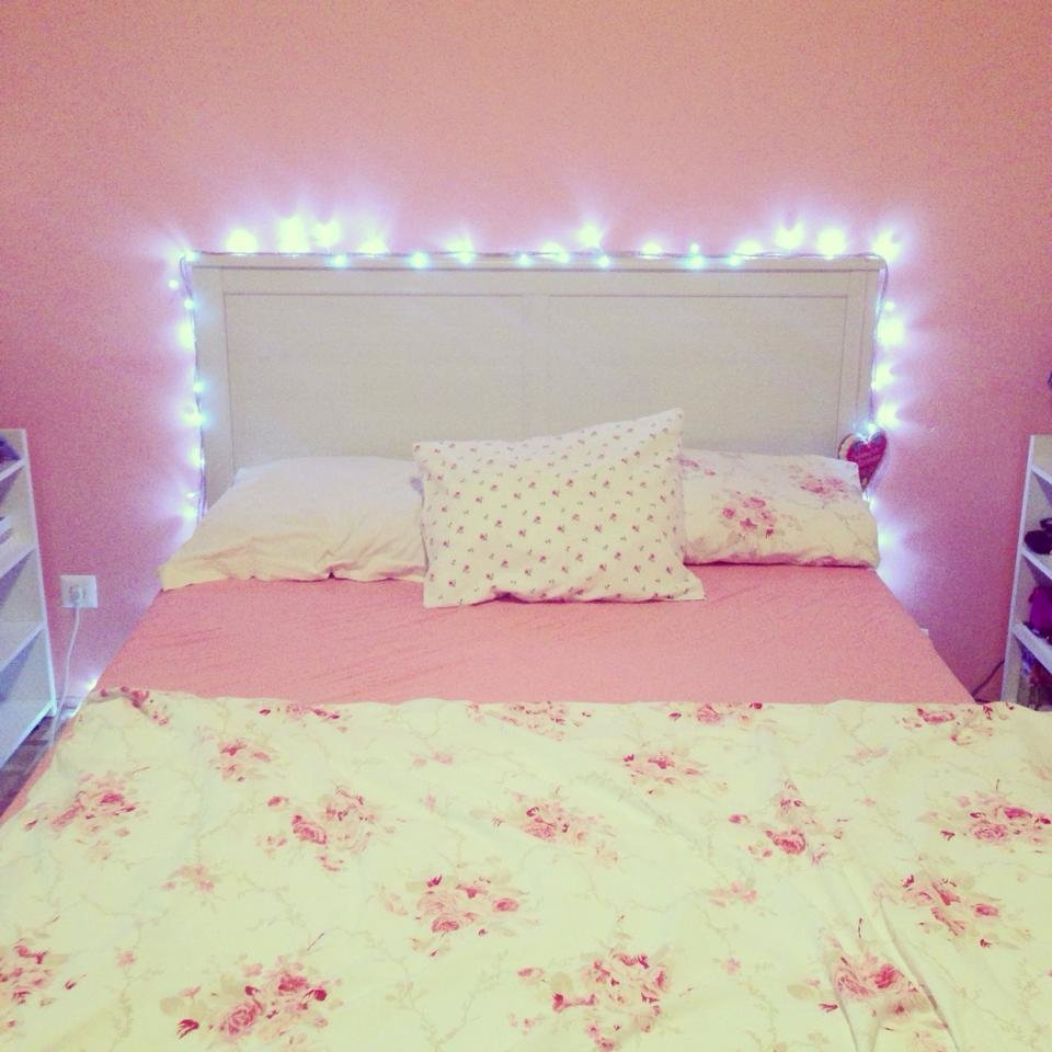 Best Fairy Lights Via Tumblr We Heart It Bed Bedroom With Pictures
