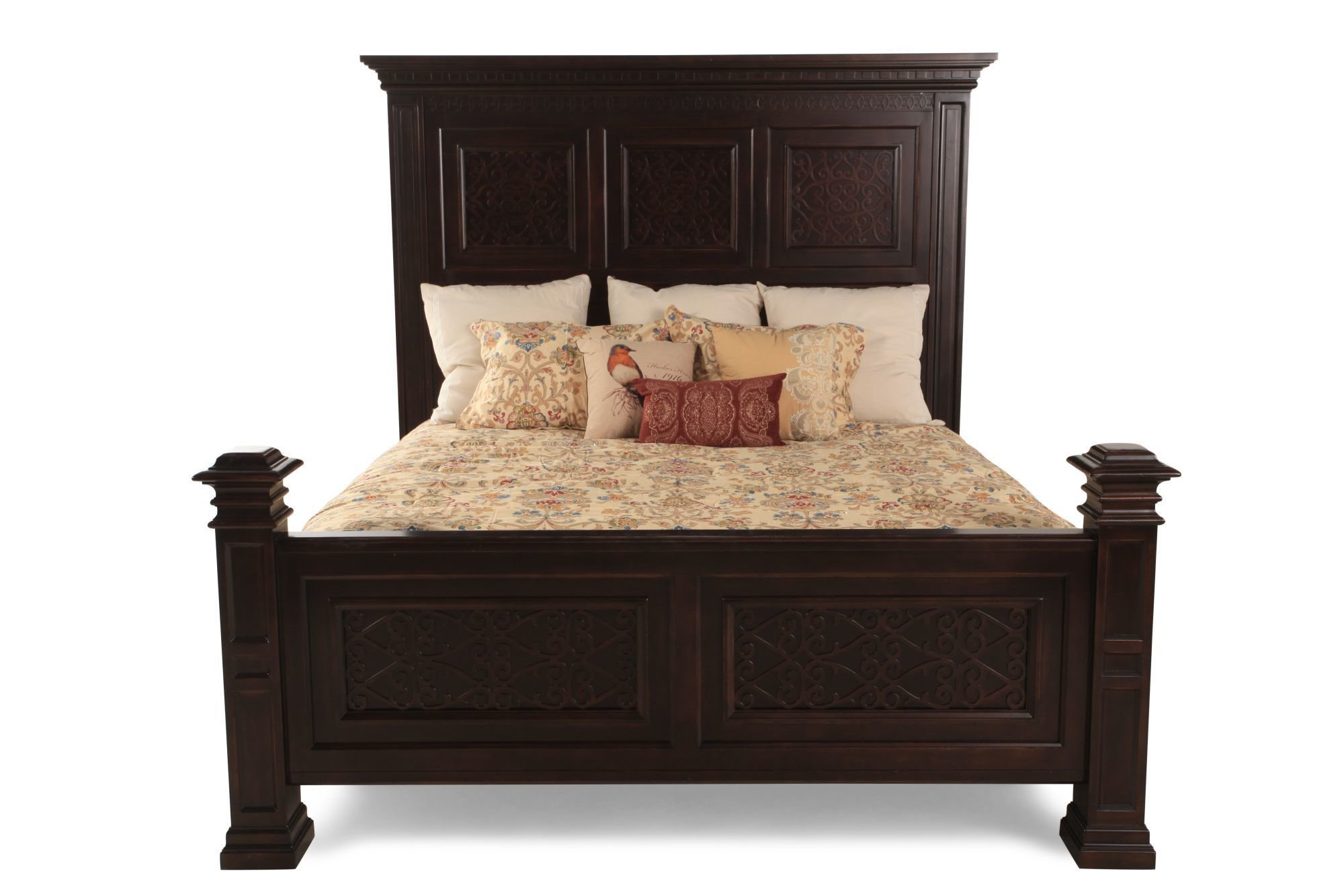Best Bernhardt Pacific Canyon Panel Bed Mathis Brothers Furniture With Pictures