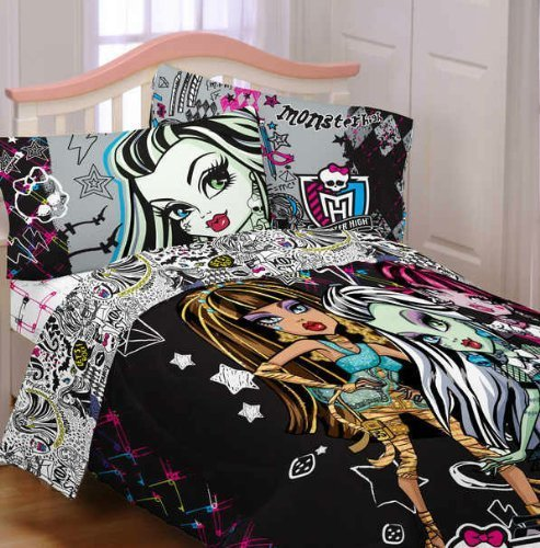 Best Other Toys Monster High Girl S Twin Comforter Sheet With Pictures