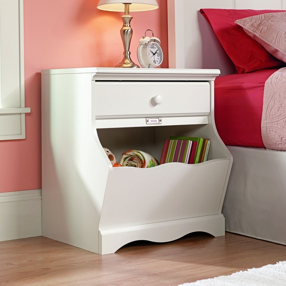 Best Bedroom Furniture Night Stand Table Storage Bin Organizer With Pictures