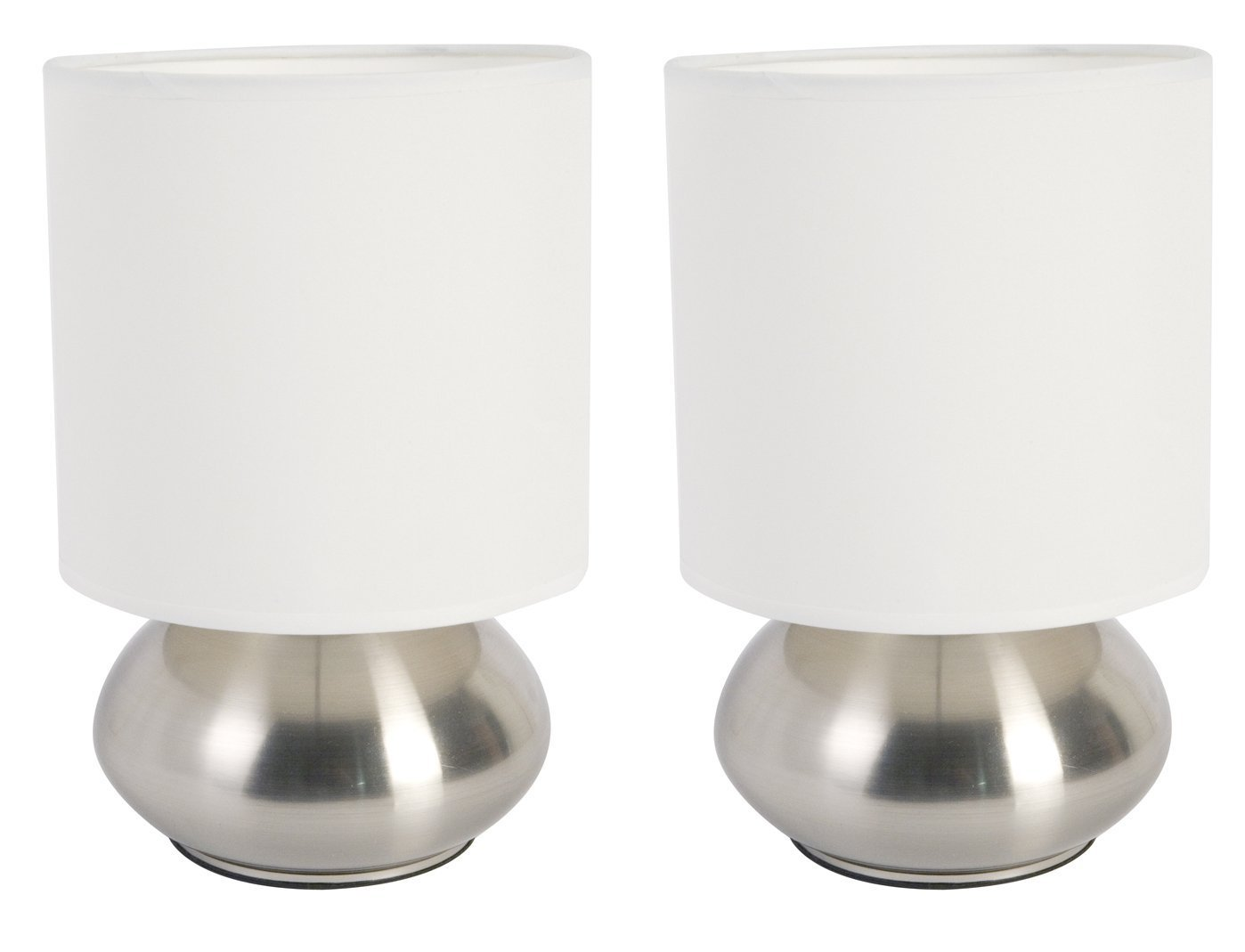 Best New Versailles 2 Pack Lamp Set Table Bedroom Bedside White Shade Touch Sensor Ebay With Pictures