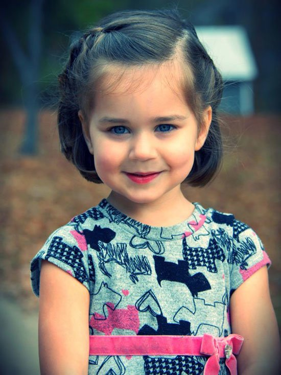 Free Best Cute Simple Unique Little Girls Kids Hairstyles Wallpaper
