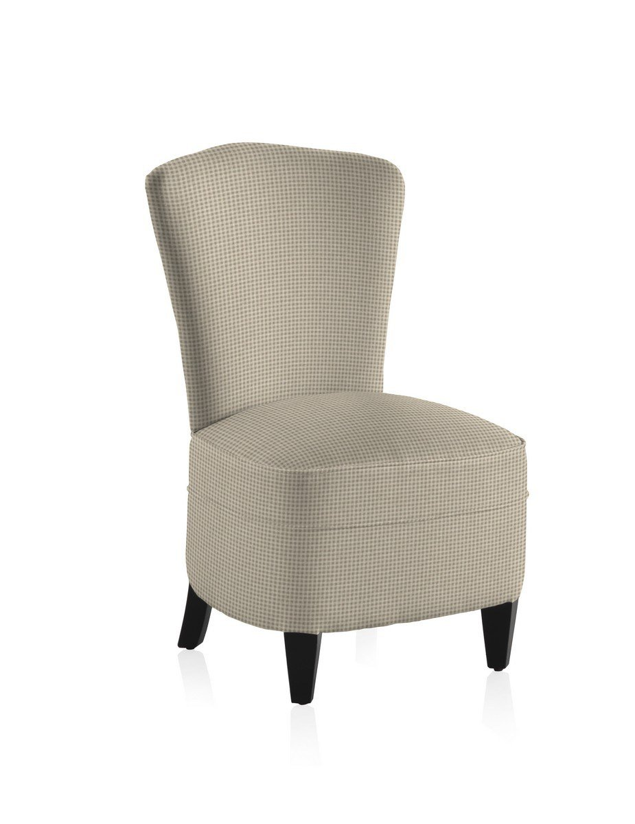 Best French Vintage Gingham Grey Bedroom Chair With Pictures