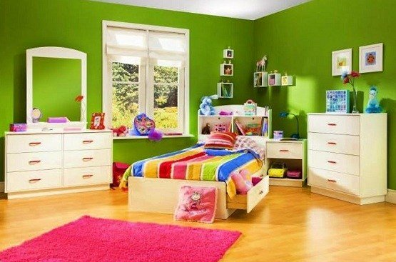 Best Green Paint Color Ideas For Kids Bedroom Home Interiors With Pictures