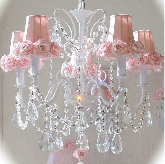 Best Shabby Chic Teardrop 5 Light Chandelier Home Interiors With Pictures