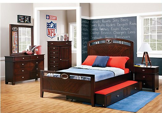 Best The Nfl Playbook 3 Pc Twin Panel Bed Review Home Best With Pictures