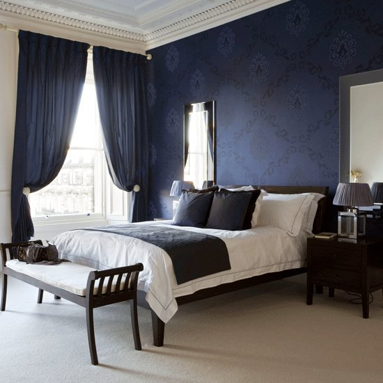 Best Navy Blue And White Bedroom Ideas Home Delightful With Pictures