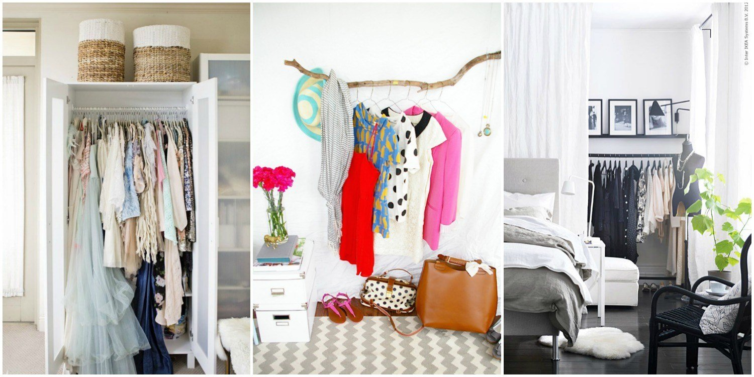 Best Storage Ideas For A Bedroom Without A Closet Genius With Pictures