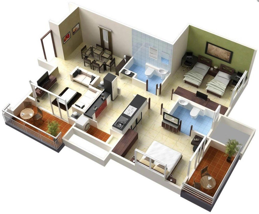 Best Two Bedroom House Apartment Floor Plans Home Design With Pictures