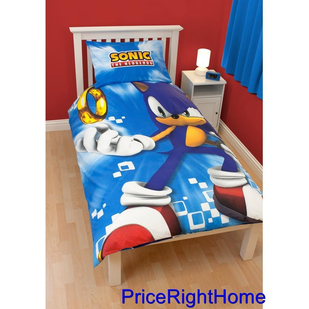 Best New Sonic The Hedgehog Spin Duvet Cover Official Bedding Sega Doona Quilt Ebay With Pictures