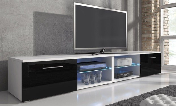 Best Samuel Tv Cabinet With Led Groupon Goods With Pictures
