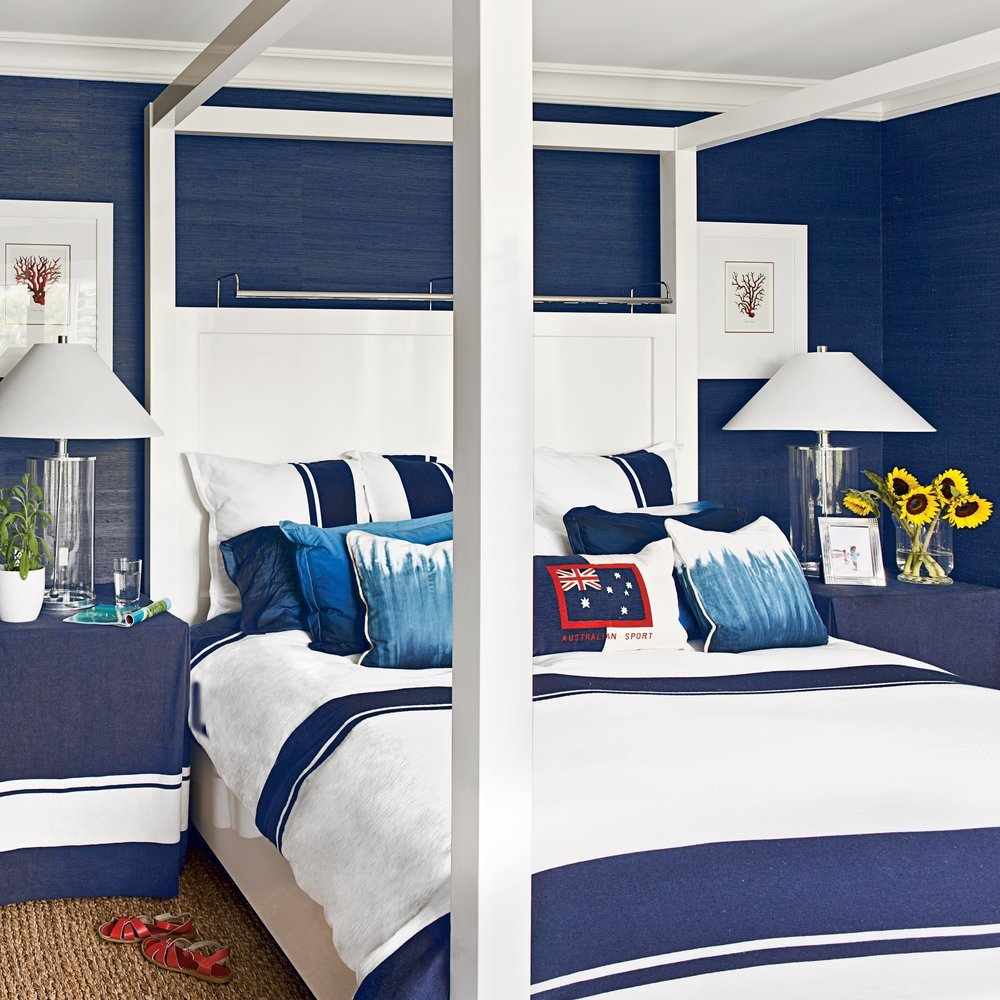 Best Navy And White Bedroom Ideas For Blue Bedrooms Coastal Living With Pictures