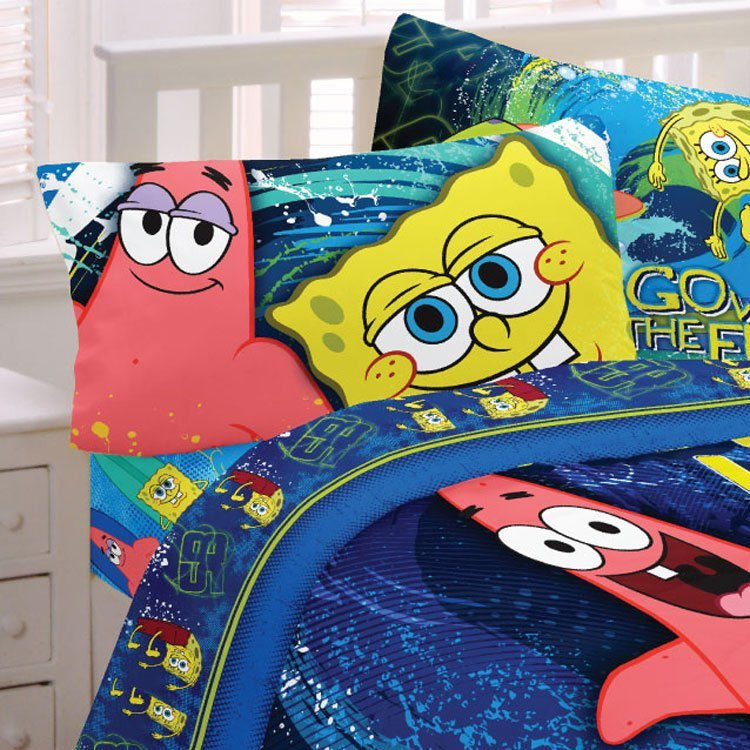 Best Spongebob Squarepants Bed Sheet Set Hyper Bob Bedding Twin With Pictures