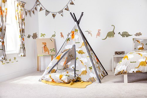 Best Jurassic Fabric Play Tent Teepee Wigwam Bedroom Kids With Pictures