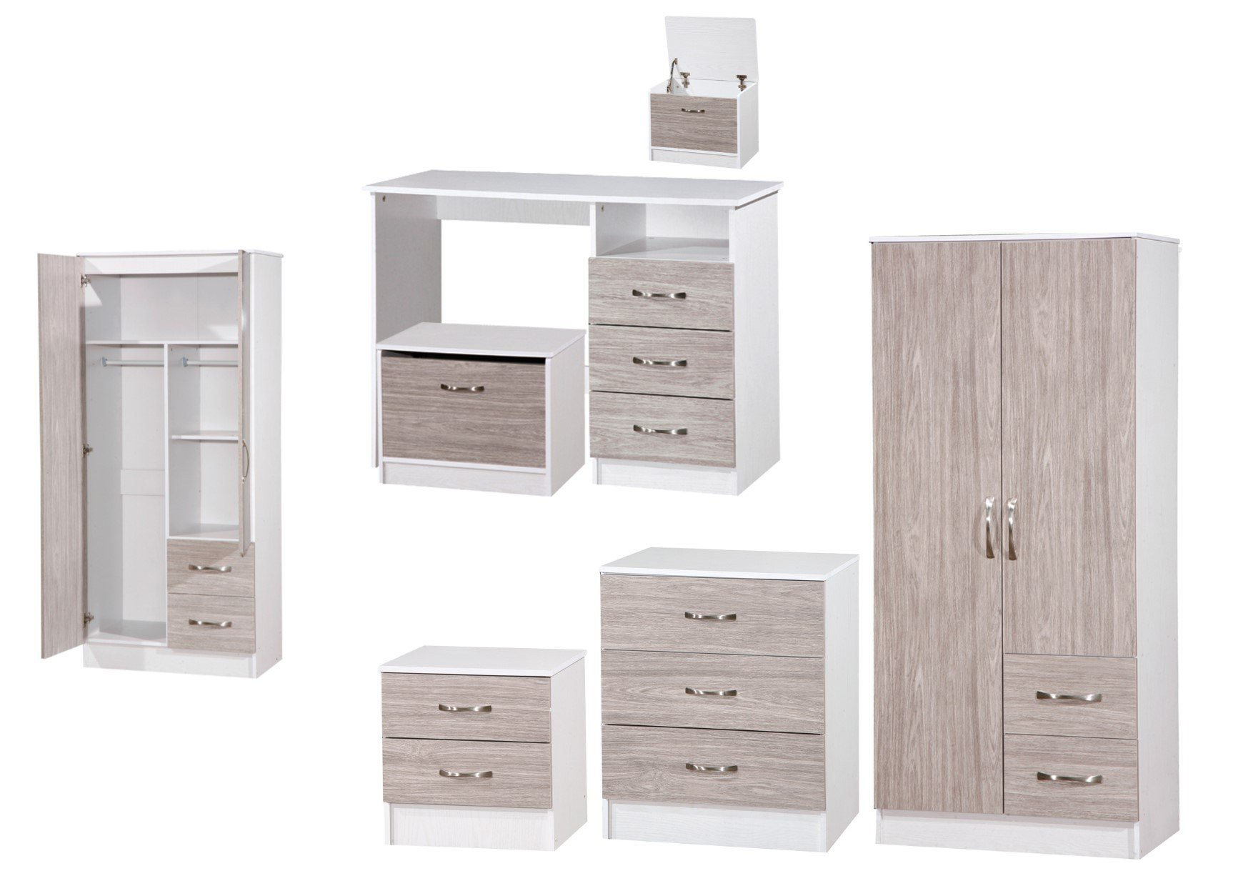 Best Marina Grey White High Gloss Bedroom Furniture Sets With Pictures