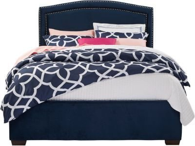 Best Loden Navy 3 Pc King Upholstered Bed King Beds Colors With Pictures