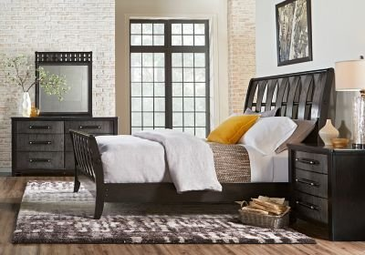 Best Bedford Heights Gray 5 Pc King Sleigh Bedroom King With Pictures