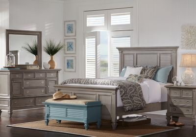 Best Belmar Gray 5 Pc Queen Panel Bedroom Queen Bedroom Sets Colors With Pictures