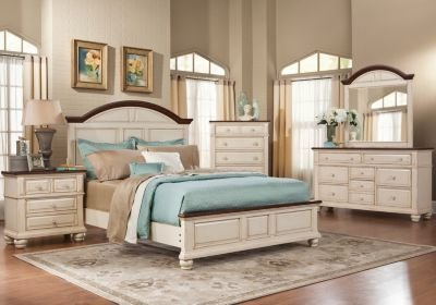 Best Berkshire Lake White 5 Pc Queen Bedroom Bedroom Sets With Pictures