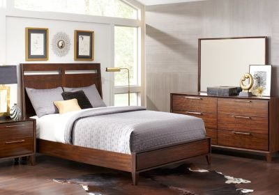 Best Sofia Vergara Cimmaron Brown 5 Pc King Sleigh Bedroom With Pictures