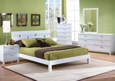 Best Gardenia White 5 Pc Queen Platform Bedroom Bedroom Sets White With Pictures