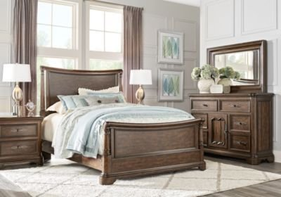Best Cindy Crawford Home Notting Hill Cherry 5 Pc King Sleigh Bedroom King Bedroom Sets Dark Wood With Pictures