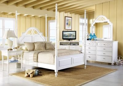 Best Cindy Crawford Home Seaside White 6 Pc Queen Poster With Pictures