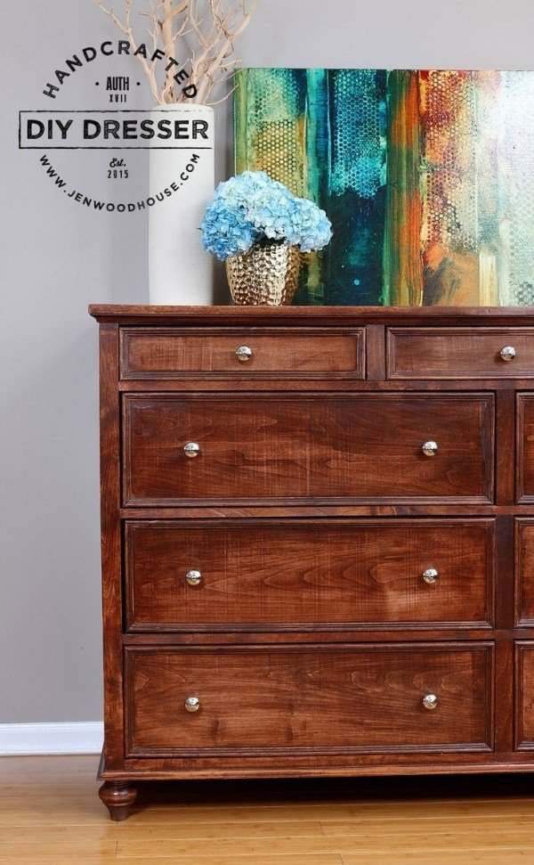 Best How To Build A Diy 9 Drawer Dresser From Scratch Free With Pictures
